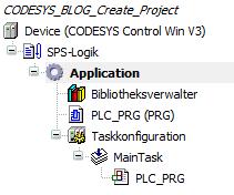 CODESYS Projektbaum - Standardprojekt