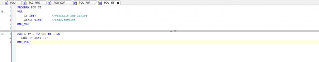 Beispielprogramm - Programmiersprache ST