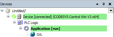 CODESYS Control Win V3 - Online connected