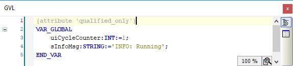 GVL - über OPC UA-Server bereitgestellte Variablen (Online)