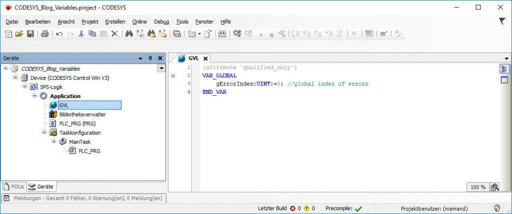 Beispiel - UINT Variable deklarieren