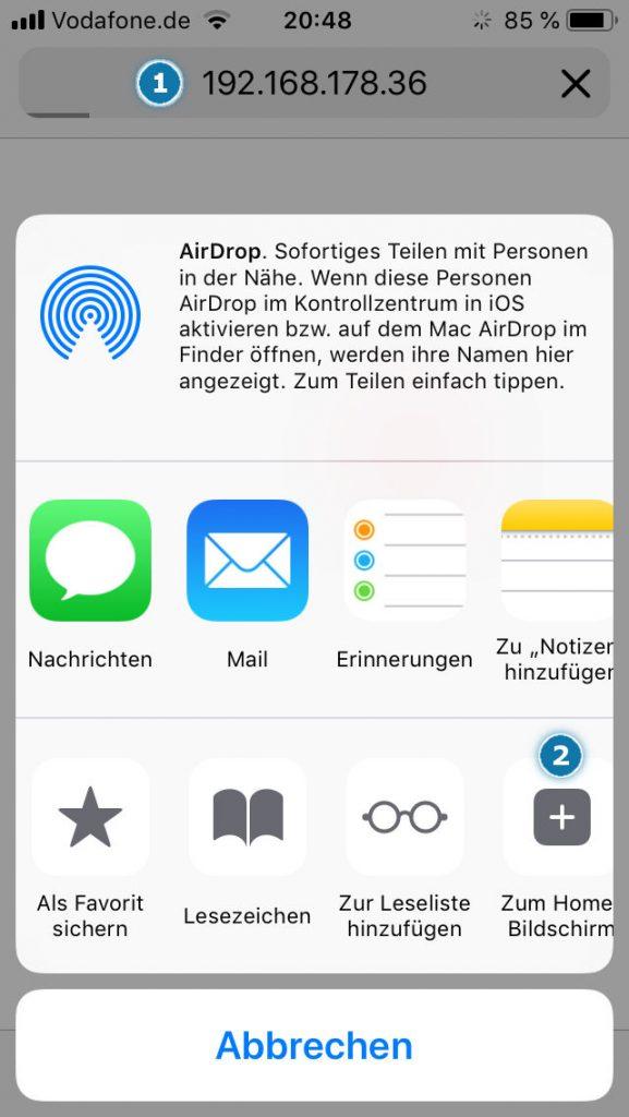 iOS CODESYS Visu aufrufen