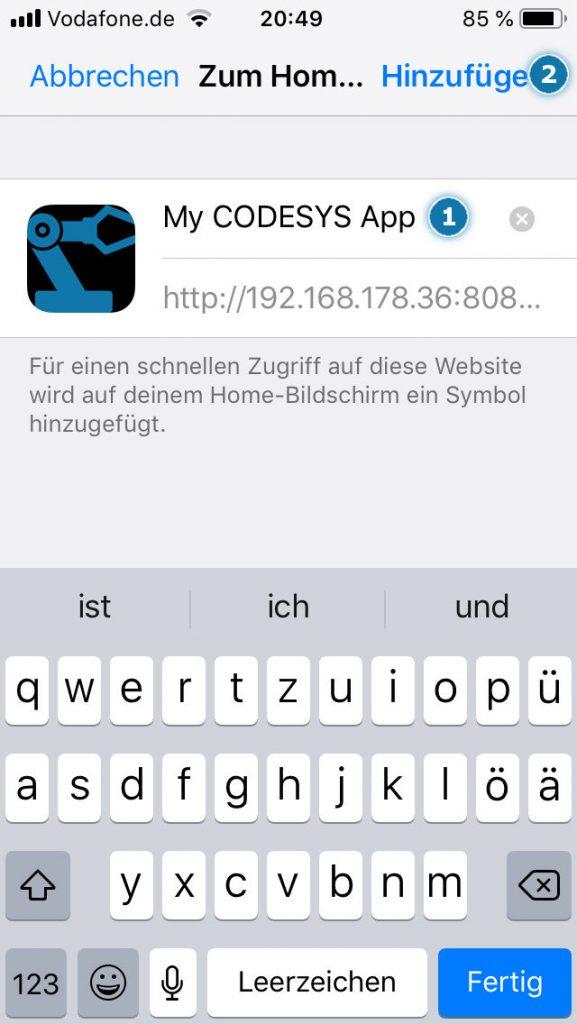 iOS - Webpage zu Homescreen hinzufügen