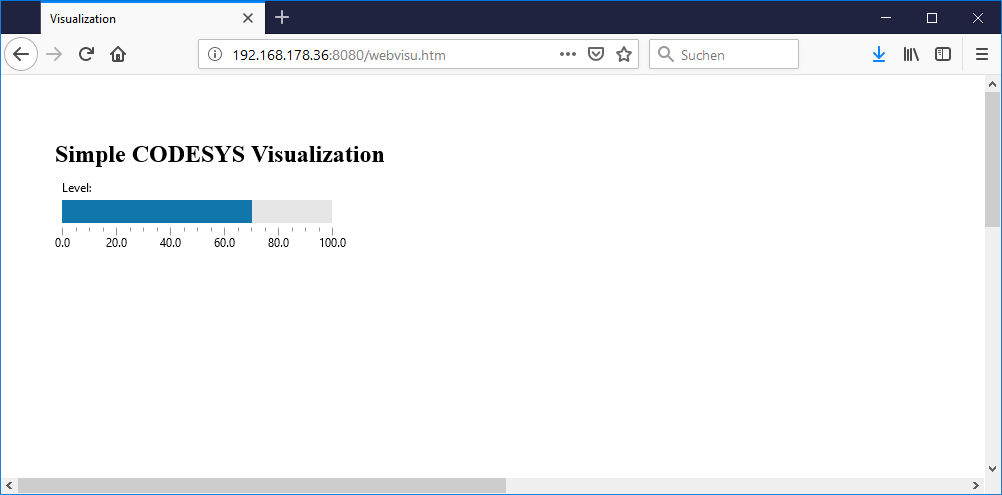 CODESYS Webvisu im FIrefox